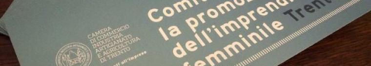 Comitato per la promozione dell'imprenditoria femminile - Camera di Commercio di Trento