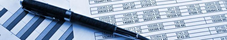 penna e tabelle di calcolo