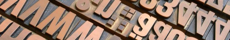 immagine caratteri tipografici