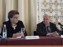 da sx Barbara Stamm, presidente del Parlamento bavarese e Giovanni Bort