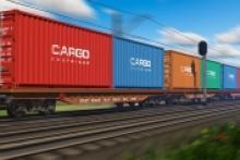 Immagine treno in corsa